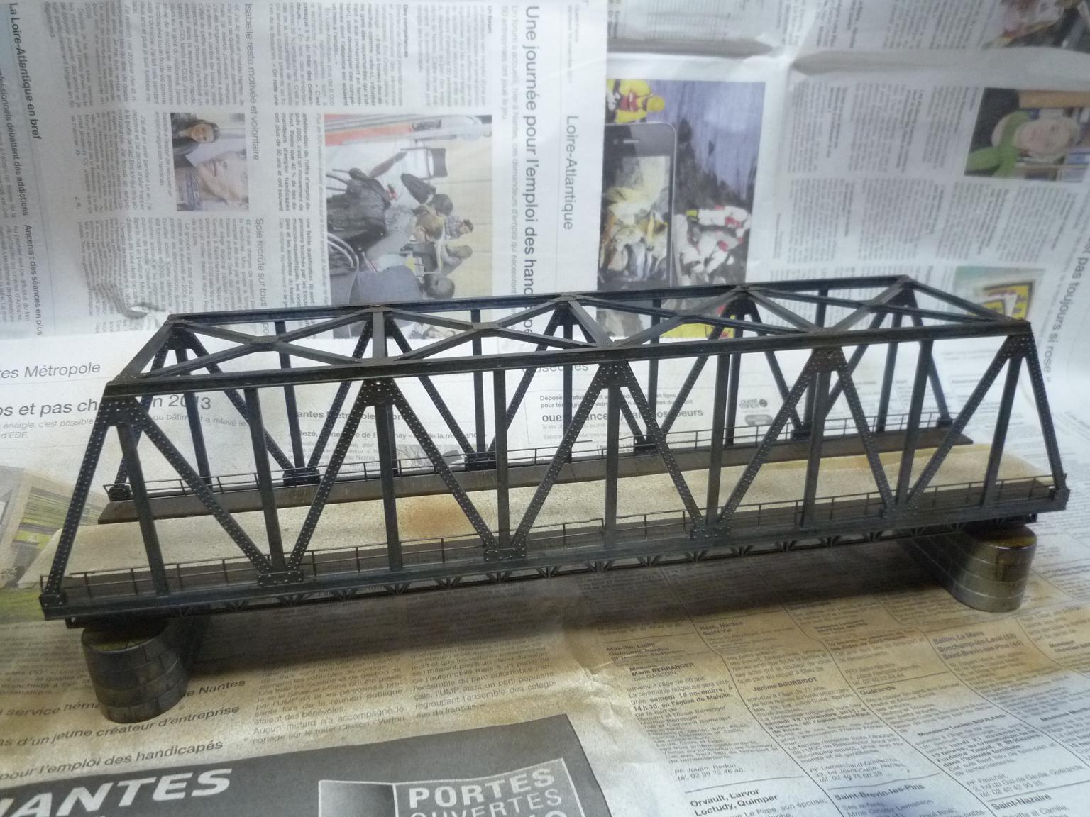 Le pont métallique du réseau... • Le train de Jules