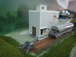 coopérative agricole et wagon céréalier.
