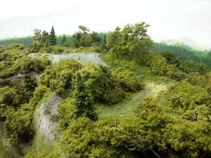 Une colline bien verte.